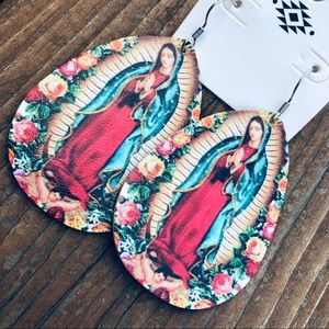 Our Lady of Guadalupe Dangle Earrings